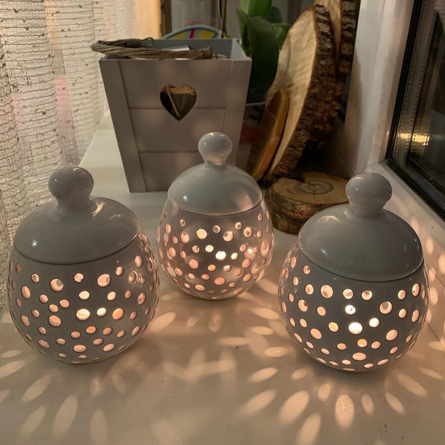 Keramikas trauks Nr.1.+ 4 tējas sveces