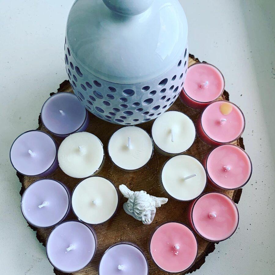 Smaržīgās sojas vaska tējas sveces