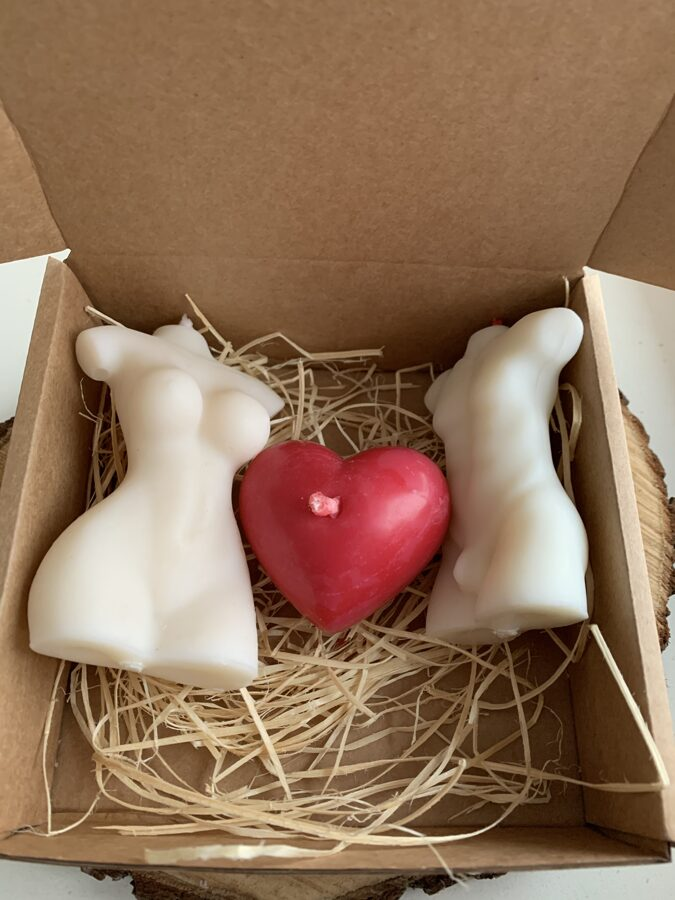 Valentīndienas sveču komplekts