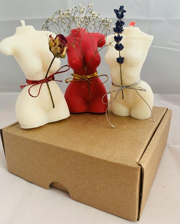 Kokosriekstu sveču vaska figūras