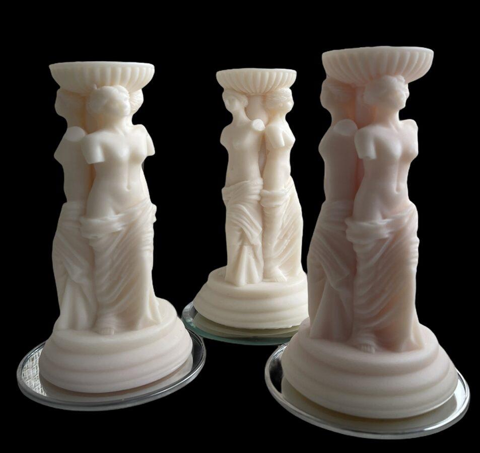 Kokosriekstu sveču vaska svece - Veneras statuja