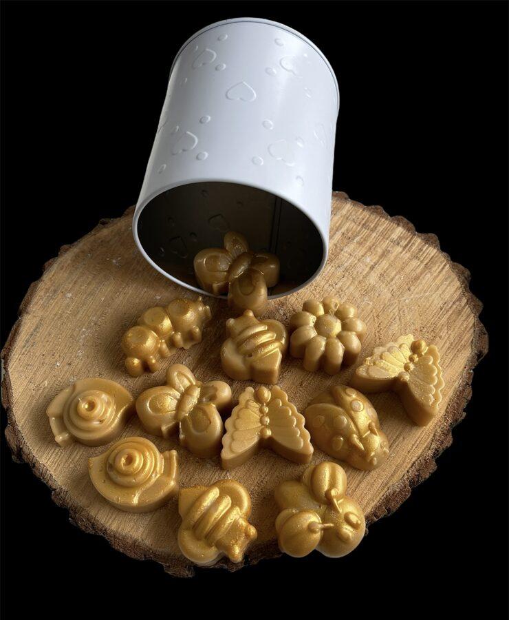 Kausējamie bišu vaska gabaliņi ar dabīgiem eksluzīviem aromātiem_2021