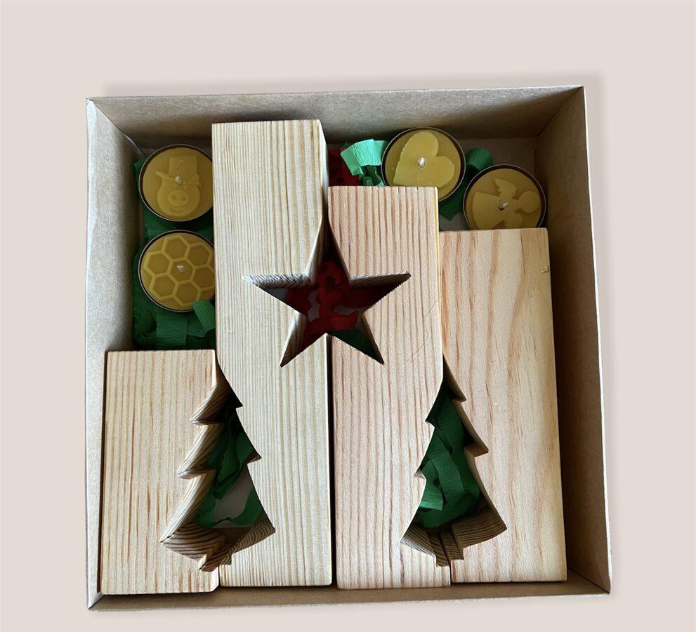 Ziemassvētku koka svečturis (4 daļas)