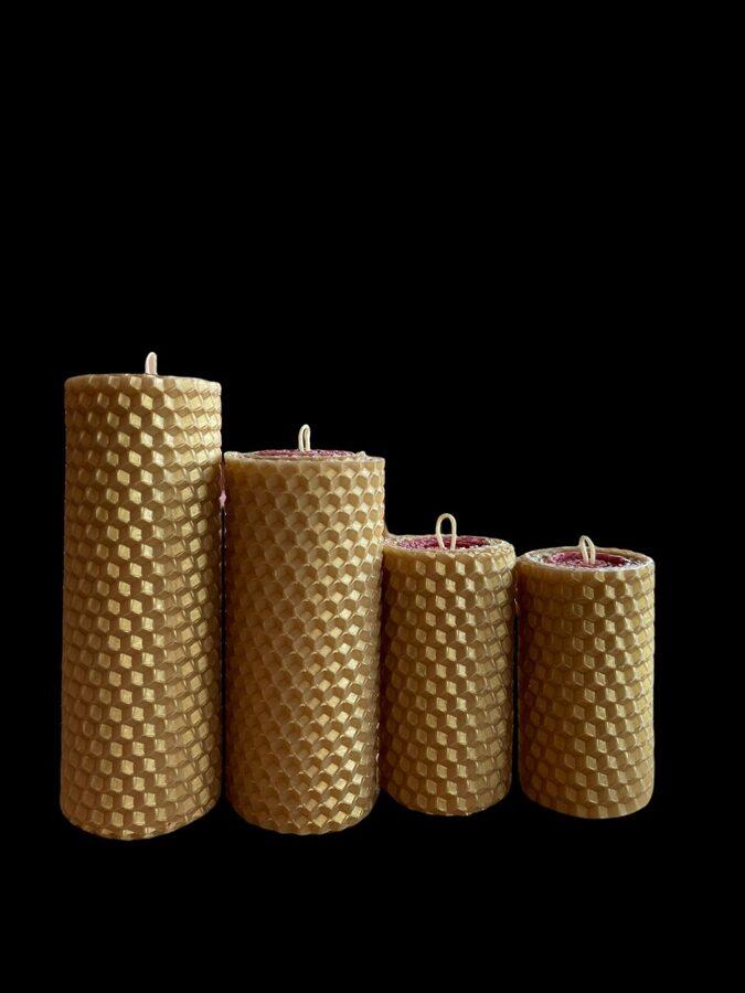 Tītās bišu vaska Adventes sveces - 100% dabīgs bišu vasks.